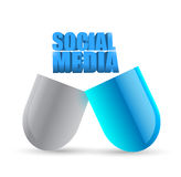 Social media pill illustration design Stock Photo