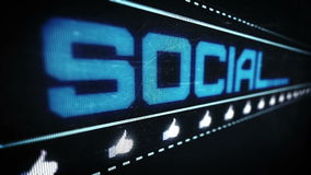 Social media pixel design stock video footage