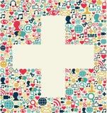 Social media plus sign texture Stock Photo