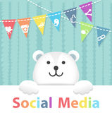 Social Media Polar Bear Stock Photography