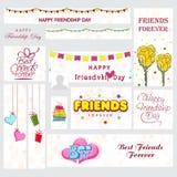 Social Media Post or Banner for Friendship Day. Stock Image