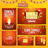 Social media post and header for Diwali. Creative social media post and header set for Indian Festival of Lights, Happy Diwali celebration