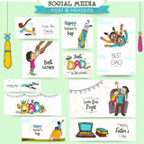Social media post or header for Fathers Day. Royalty Free Stock Images