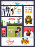 Social media post or header for Fathers Day. Royalty Free Stock Photography