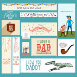 Social media post and header for Fathers Day. Stock Photos