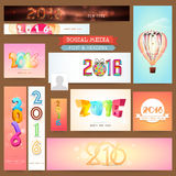 Social Media post and header for Happy New Year. Stock Images