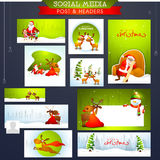 Social Media post and header for Merry Christmas. Royalty Free Stock Photography
