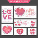 Social Media post and header for Valentine's Day. Stock Images