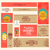 Social Media post and header for Women's Day. Stock Images