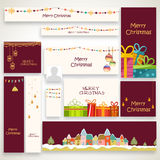 Social media post or headers for Christmas celebration. Stock Photos
