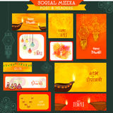 Social media post or headers for Diwali celebration. Royalty Free Stock Photos
