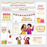 Social Media Post for Raksha Bandhan celebration. Stock Photos