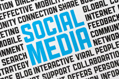 Social Media Poster. Printed poster on a social media theme. Close up shot Royalty Free Stock Photography