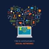 Social Media Poster Stock Photos