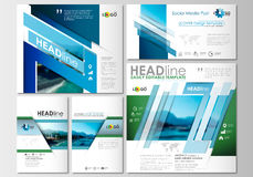 Social media posts set. Business templates. Cover design, abstract flat style travel decoration layouts in popular Stock Photos