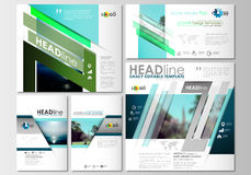Social media posts set. Business templates. Cover design, abstract flat style travel decoration layouts in popular Royalty Free Stock Photo
