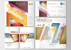 Social media posts set. Business templates. Cover template, easy editable Royalty Free Stock Photos