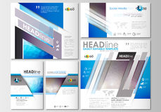 Social media posts set. Business templates. Cover template, easy editable, flat layouts Royalty Free Stock Images