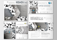 Social media posts set. Business templates. Cover template, easy editable, flat layouts in popular formats. Abstract Stock Images