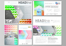 Social media posts set. Business templates. Stock Images