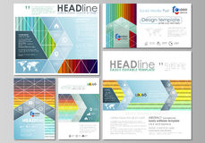 Social media posts set. Business templates. Vector layouts in popular formats. Bright color rectangles, colorful design Royalty Free Stock Photography