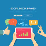 Social media promo banner template Stock Photo