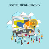 Social media promo concept Royalty Free Stock Photography