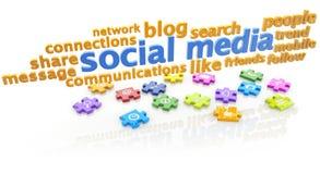 Social media puzzle vector illustration