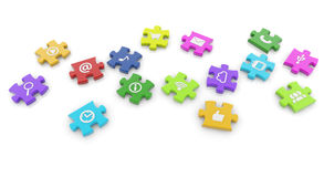 Social media puzzle stock illustration