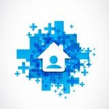 Social media real estate network Stock Photo