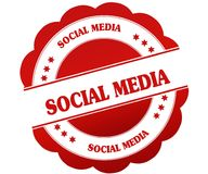 SOCIAL MEDIA red round rubber stamp Royalty Free Stock Images