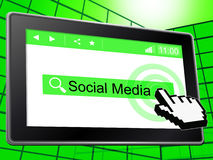 Social Media Represents Online Forum And Forums. Social Media Showing News Feed And Online Stock Photo