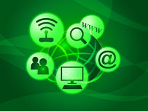 Social Media Represents World Wide Web And Communication Royalty Free Stock Photos