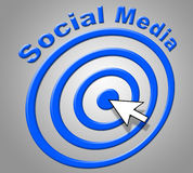 Social Media Represents World Wide Web And Net Royalty Free Stock Photos