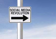 Social Media Revolution Stock Image