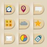 Social media ribbon elements Stock Image