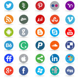 Social media round icons Stock Images
