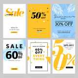 Social media sale banners and ads web template collection. Vector illustrations for website and mobile website banners, posters, email and newsletter designs Royalty Free Stock Photos