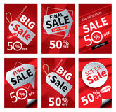 Social media sale banners and ads web template set. royalty free illustration