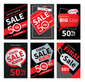 Social media sale banners and ads web template set. stock illustration