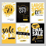 Social media sale banners, and ads web template set Stock Image
