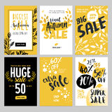 Social media sale banners, and ads web template set Royalty Free Stock Photos