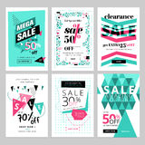 Social media sale banners collection. Vector illustrations for website and mobile website social media banners, posters, email and newsletter designs, ads Stock Images