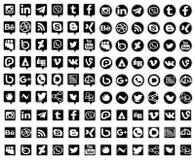 Social Media-Sammlung Lizenzfreie Stockfotos