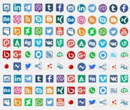 Social Media-Sammlung Lizenzfreie Stockbilder
