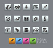 Social Media // Satinbox Series. +++ The .eps file includes 5 color versions in different layers Royalty Free Stock Image