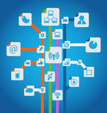 Social media scheme Stock Photo