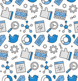 Social media seamless icons pattern Royalty Free Stock Photo