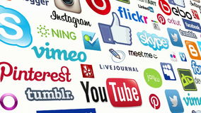 Social Media Seamless Loop stock footage