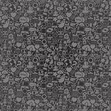 Social Media Seamless Pattern Stock Photo